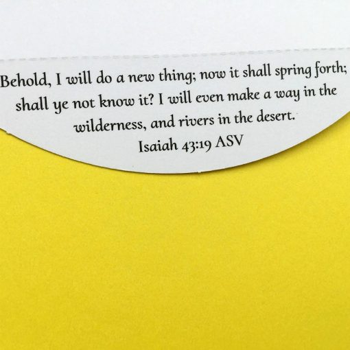 encouraging Bible verse detachable from Christian encouragement card