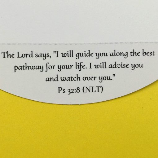 Bible verse about guidance on Christian encouragement greeting card