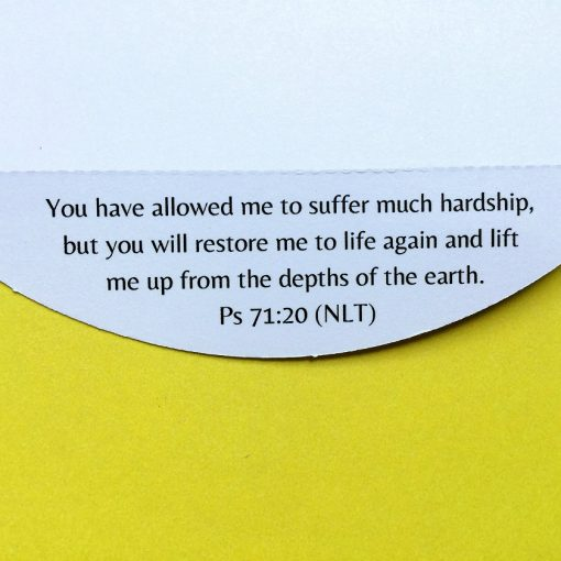 Bible verse about hope detachable along perforation