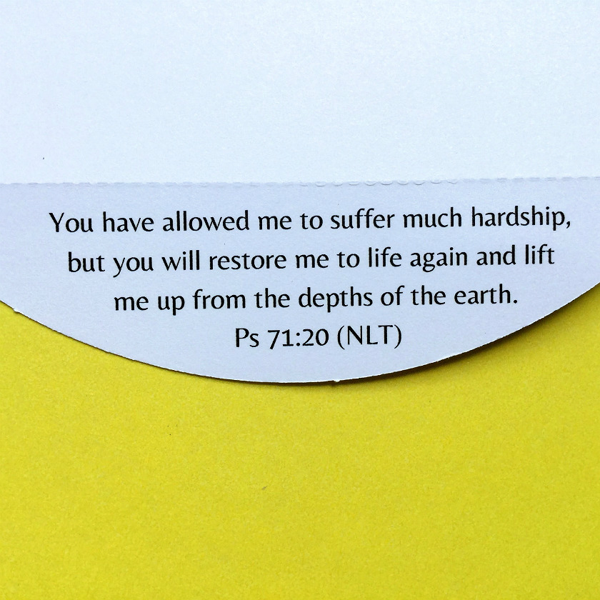 Hope for the hopeless bible verse greeting card will quickly lift bible verse about hope detachable along perforation m4hsunfo