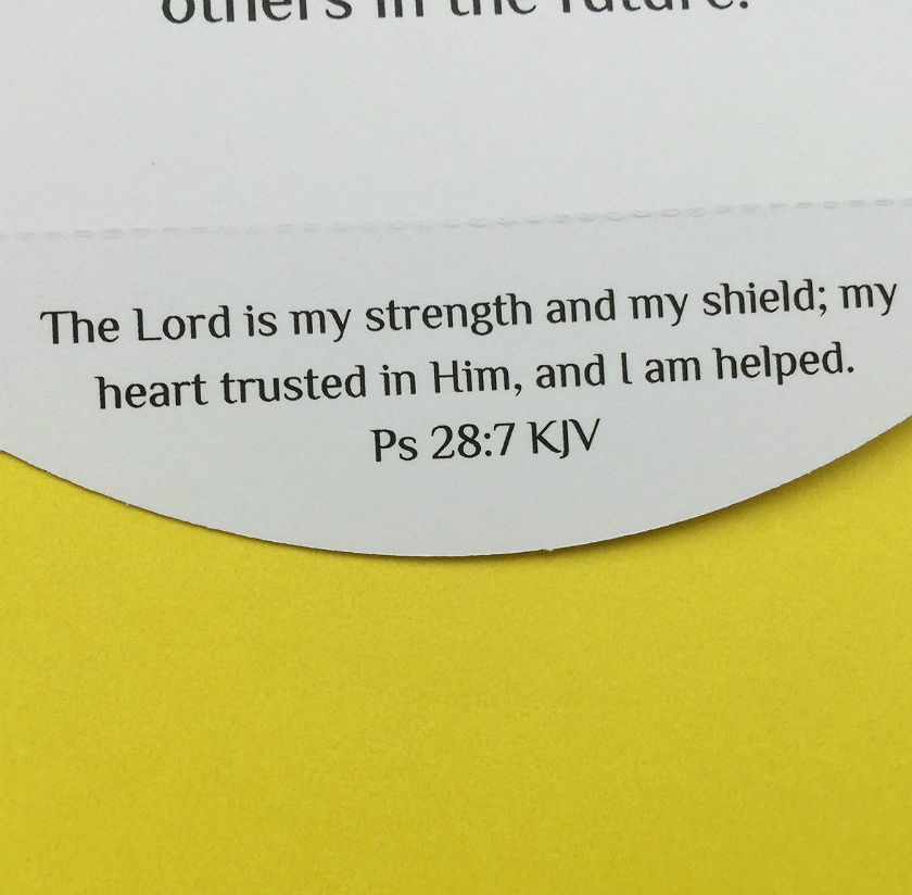 Detachable Bible Verse About Strength On Christian Encouragement Card