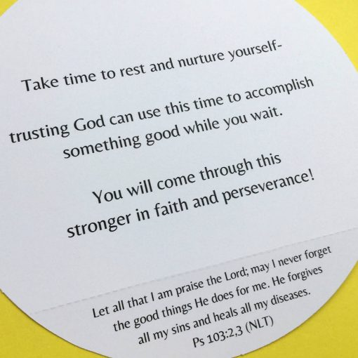 Christian get well card with Bible verse about healing