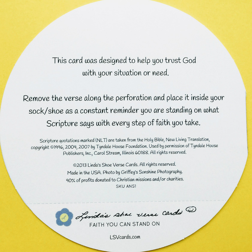 Bible verse about trust in god included on this scripture greeting card back cover of christian encouragement card with bible verse about trust in god m4hsunfo
