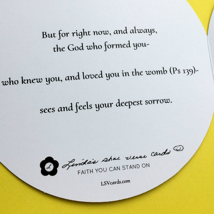 christian sympathy card inside left view - Bible Verses For Sympathy Cards