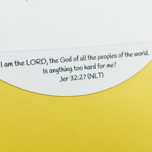 detachable Bible verse about trusting God on Christian encouragement card