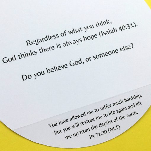 Bible verse about hope inside Scripture greeting card