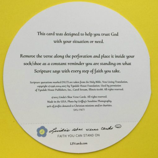 back cover of Christian encouragement card about Gods guidance