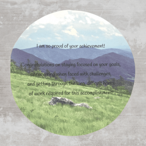 Christian congratulations greeting card with bible verse