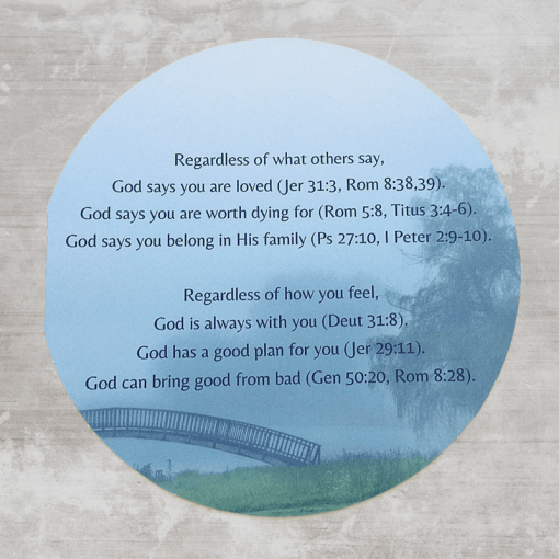 Christian encouragement card with hope for the hopeless bible verse