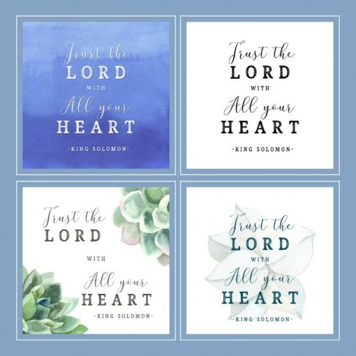Bible verse word art 4 designs