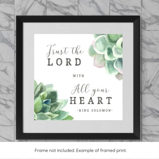 Framed example of Bible verse word art