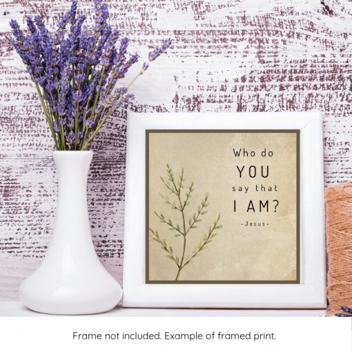 gifts for a minister framed example of word art quote of Jesus